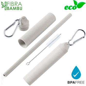 Set Bombilla Fibra Bambú